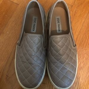 Steve Madden Quilted Slip on sneakers!
